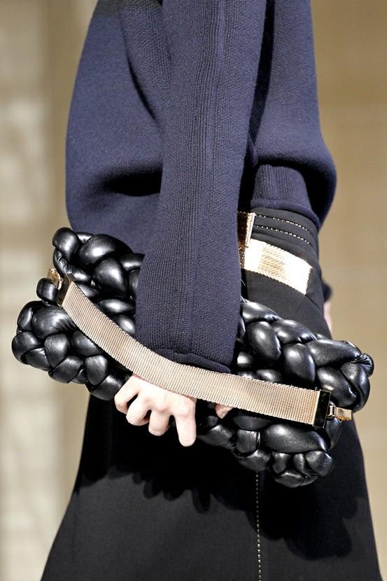 balenciaga clutch bag black puffy